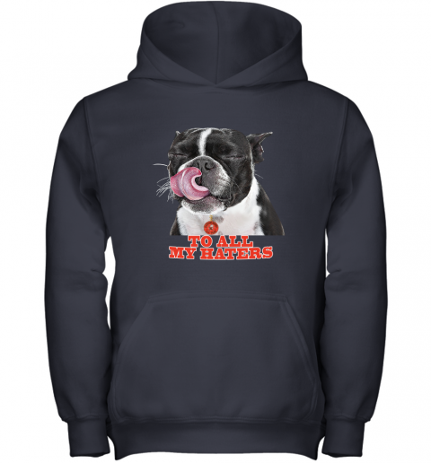 Cleveland Browns To All My Haters Dog Licking Youth Hoodie