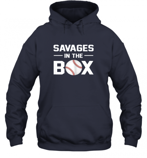 mtxq savages in the box shirt baseball gift hoodie 23 front navy