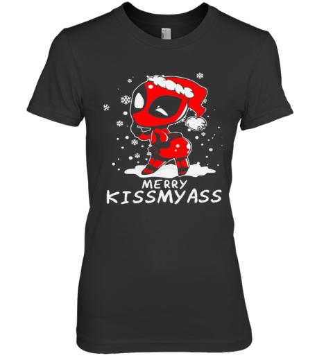 Deadpool Merry Kiss My Ass Christmas Premium Women's T-Shirt