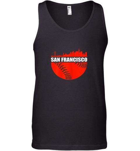 San Francisco Baseball Downtown Skyline Gift Tank Top