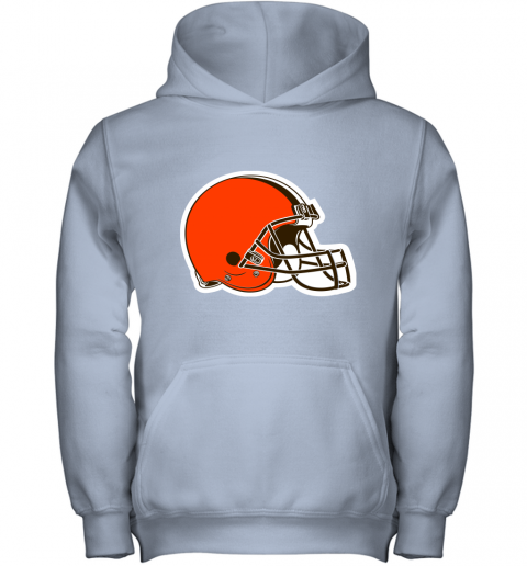3qw3 cleveland browns nfl pro line by fanatics branded brown victory youth hoodie 43 front light pink