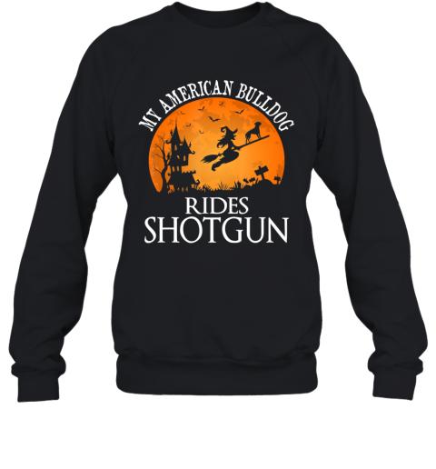 Armenian Bulldog Rides Shotgun Dog Lover Halloween Party Gift Sweatshirt