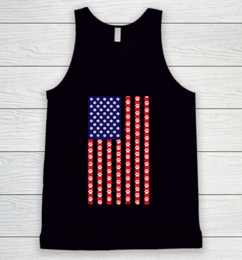 Volleyball Dog Lover American Flag Tank Top