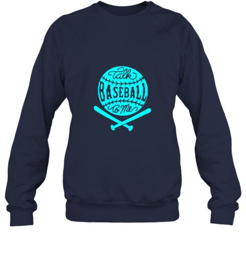 1lxx talk baseball to me groovy ball bat silhouette sweatshirt 35 front navy