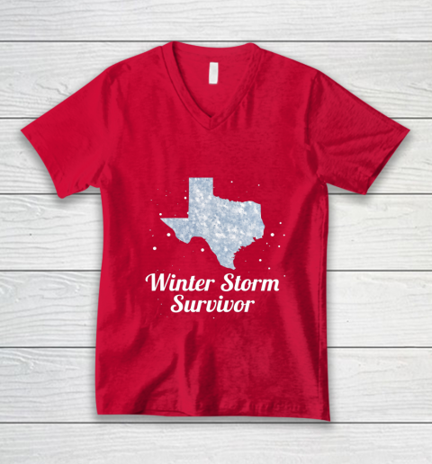 I Survived Winter Storm Texas 202 V-Neck T-Shirt 14