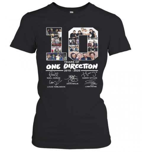 10 Years Of One Direction 2010 2020 Signature Women's T-Shirt