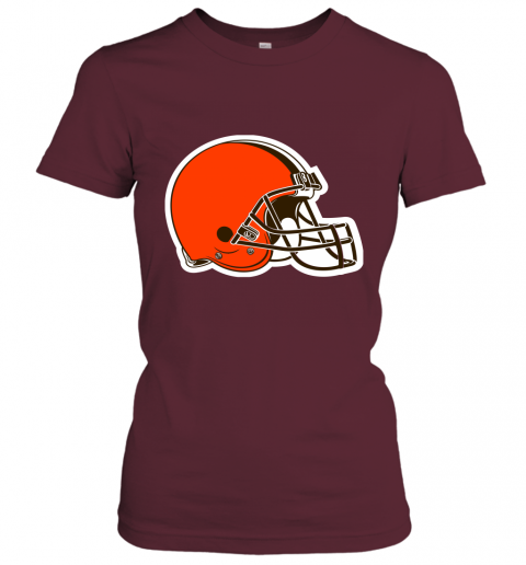 8oqz cleveland browns nfl pro line by fanatics branded brown victory ladies t shirt 20 front maroon