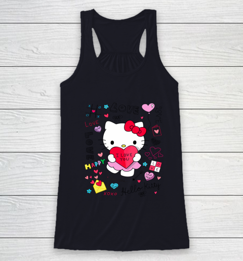 Hello Kitty Love Notes Valentine Tee Racerback Tank 7