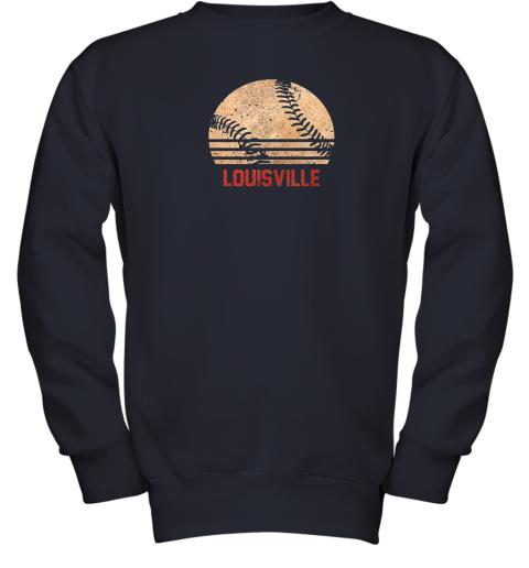 pl13 vintage baseball louisville shirt cool softball gift youth sweatshirt 47 front navy