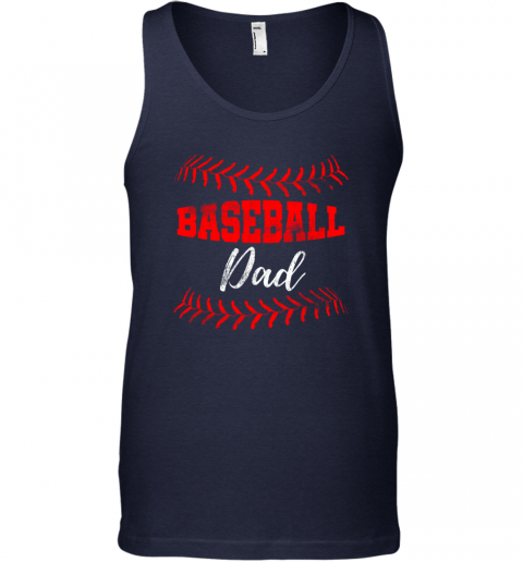 wzjs mens baseball inspired dad fathers day unisex tank 17 front navy