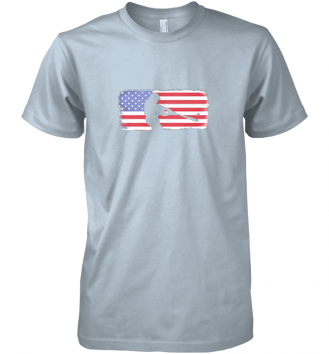 tk9z usa american flag baseball player perfect gift premium guys tee 5 front light blue