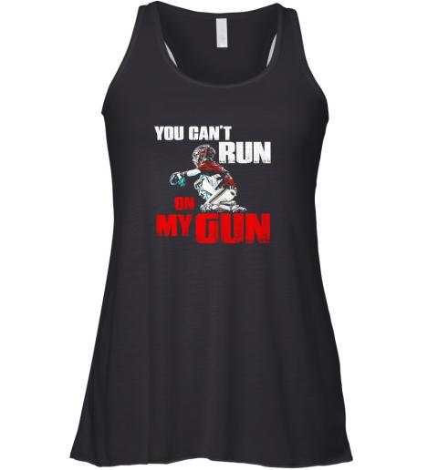 You Cant Run On My Gun Shirt Baseball Racerback Tank