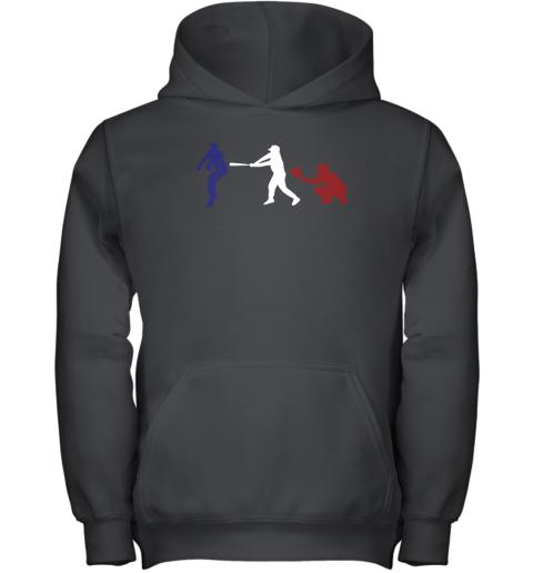Baseball USA Flag American Tradition Spirit Youth Hoodie