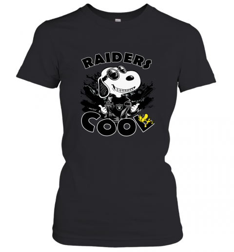 unne oakland raiders snoopy joe cool were awesome shirt ladies t shirt 20 front black