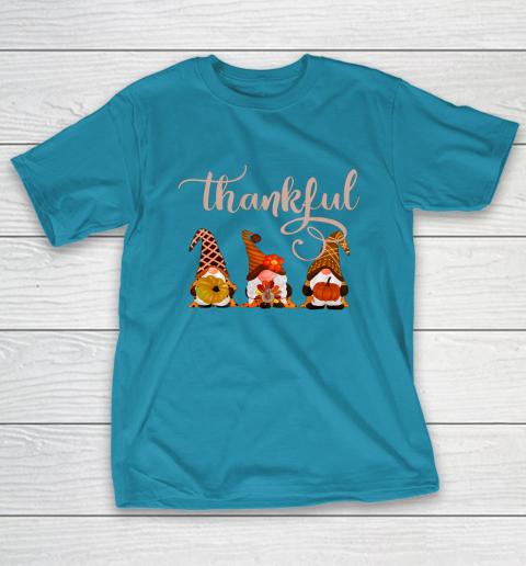 Cute Thanksgiving Thankful Gnomes T-Shirt 7