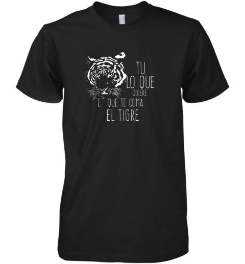 Tigres Dominican Baseball Spanish Espanol Cool Premium Men's T-Shirt