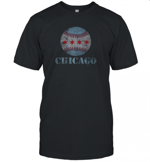 Vintage Chicago Baseball Flag Unisex Jersey Tee