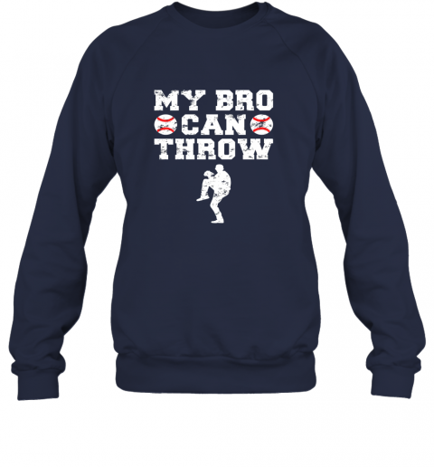 ns4e kids cute baseball brother sister funny shirt cool gift pitcher sweatshirt 35 front navy