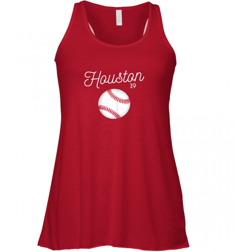 a7vj houston baseball shirt astro number 19 and giant ball flowy tank 32 front red