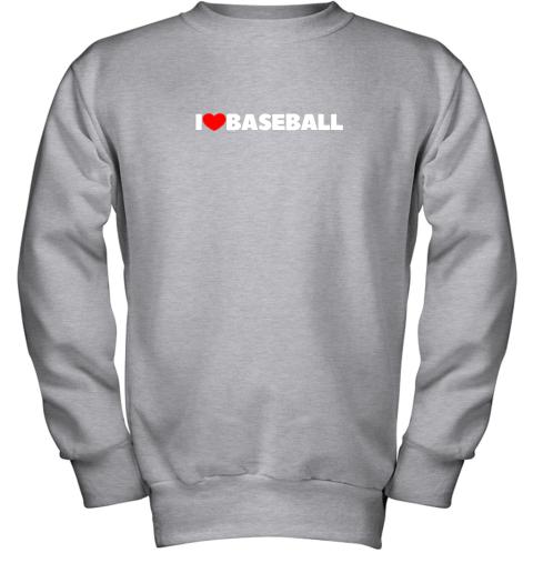 valw i love heart baseball youth sweatshirt 47 front sport grey