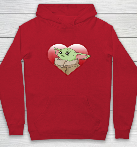 Star Wars The Mandalorian The Child Valentine Heart Portrait Hoodie 15