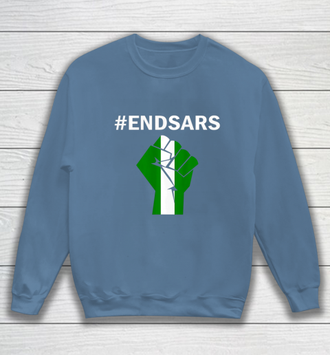EndSARS End SARS Nigeria Flag Colors Strong Fist Protest Sweatshirt 6