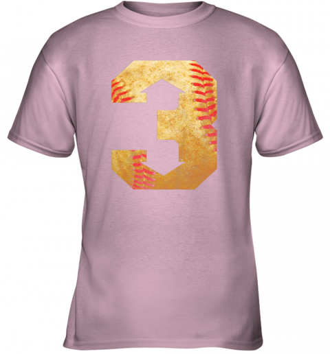 b3qc three up three down baseball 3 up 3 down youth t shirt 26 front light pink