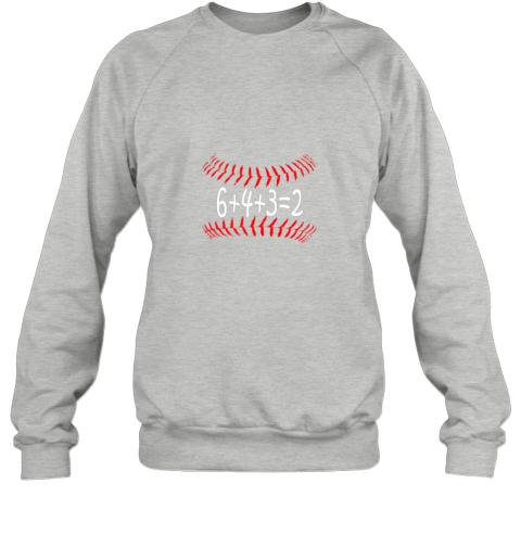 jxkr funny baseball 6432 double play shirt i gift 6 4 32 math sweatshirt 35 front sport grey