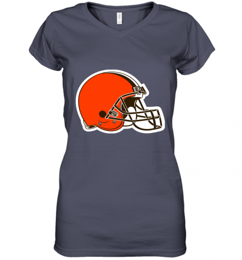tvjp cleveland browns nfl pro line by fanatics branded brown victory women v neck t shirt 39 front heather navy