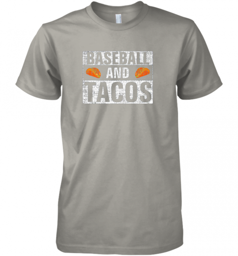 x31s vintage baseball and tacos shirt funny sports cool gift premium guys tee 5 front light grey