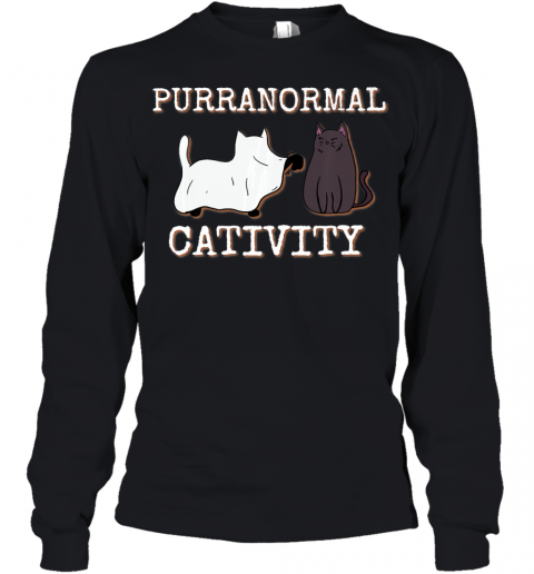 Purranormal Cativity Funny Halloween Ghost Cat girls Gifts Premium Youth Long Sleeve