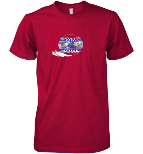 sokx vintage baseball israel flag shirt israelis pride premium guys tee 5 front red