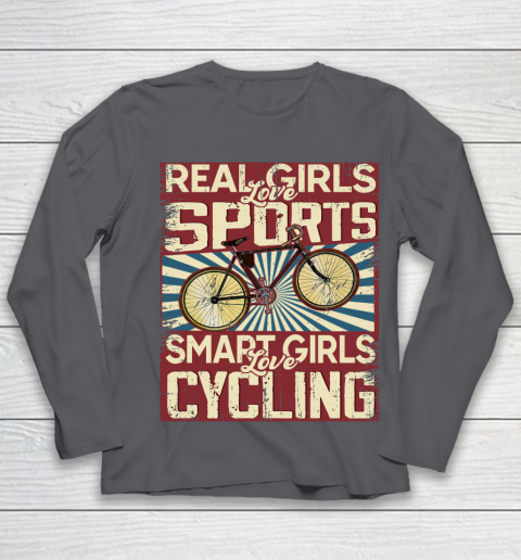 Real girls love sports smart girls love Cycling Youth Long Sleeve 6