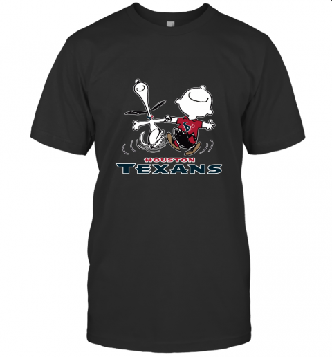 Snoopy And Charlie Brown Happy Houston Texans NFL T-Shirt