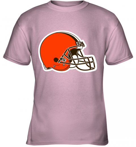 iozq cleveland browns nfl pro line by fanatics branded brown victory youth t shirt 26 front light pink