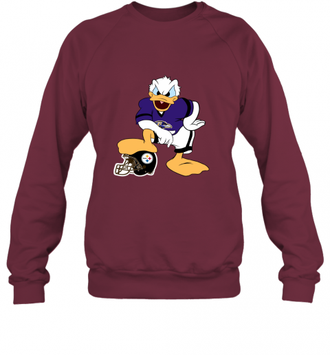sflm you cannot win against the donald baltimore ravens nfl sweatshirt 35 front maroon