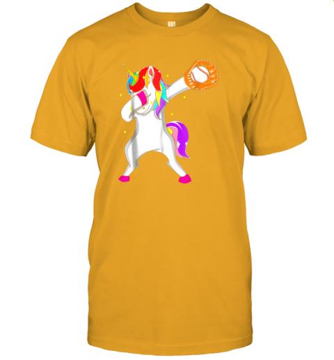 0eu3 softball dabbing unicorn baseball girls teens jersey t shirt 60 front gold