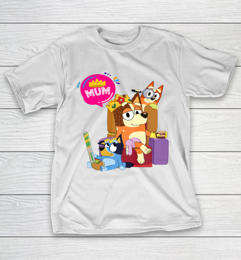 Bluey Mom Dad Funny Queen For Family Lover T-Shirt