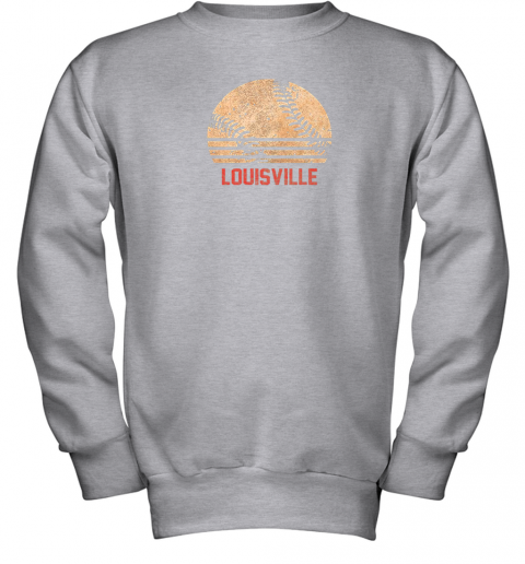 pl13 vintage baseball louisville shirt cool softball gift youth sweatshirt 47 front sport grey