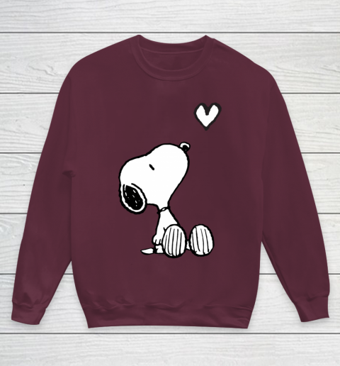 Peanuts Valentine Snoopy Heart Youth Sweatshirt 4