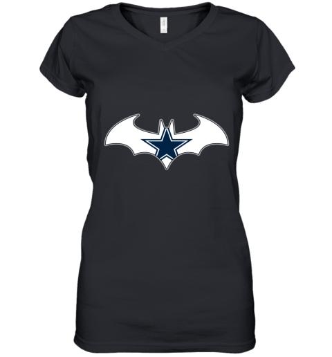 We Are The Dallas Cowboys Batman NFL Mashup Women's V-Neck T-Shirt