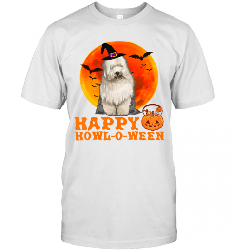 Funny Old English Sheepdog Dog Halloween Happy Howl-o-ween T-Shirt