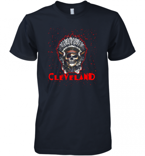 14oe cleveland hometown indian tribe vintage baseball fan awesome premium guys tee 5 front midnight navy