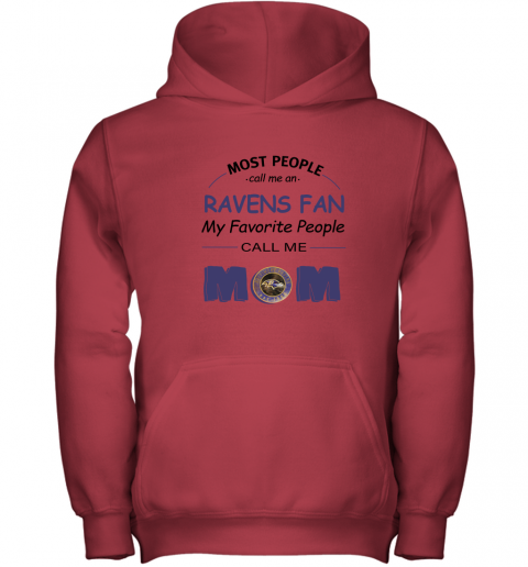 96nq most people call me baltimore ravens fan football mom youth hoodie 43 front red