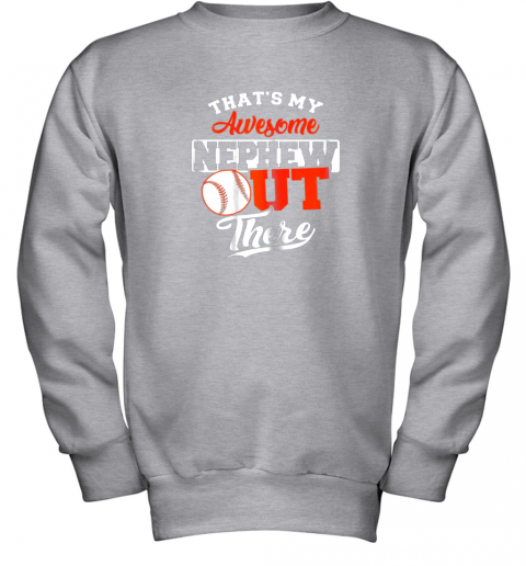 djti that39 s my awesome grandson out there baseball youth sweatshirt 47 front sport grey