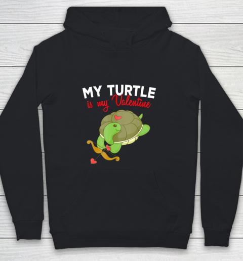 Turtle Valentine T Shirt Sea Turtle Cupid Valentines Day Youth Hoodie