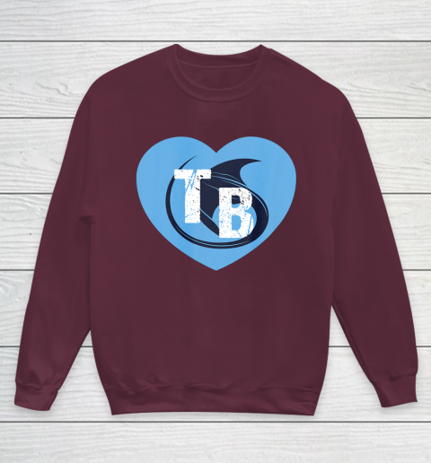 Stingray Love Tampa Bay Vintage TB Cool Tampa Bay Heart Youth Sweatshirt 5