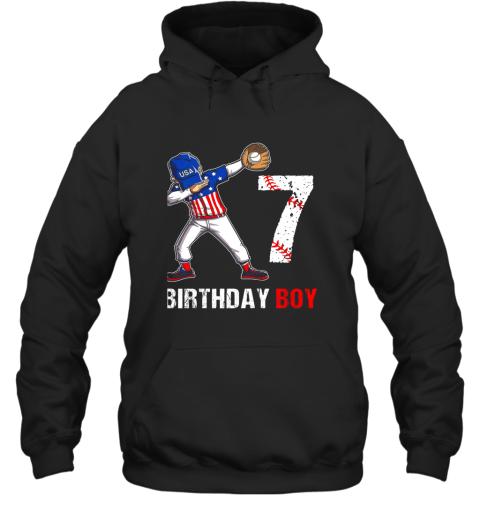 Kids 7 Years Old 7th Birthday Baseball Dabbing Shirt Gift Party Hoodie