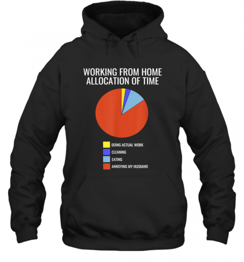 Pie Chart Annoying Husband Wife Working From Home Hoodie