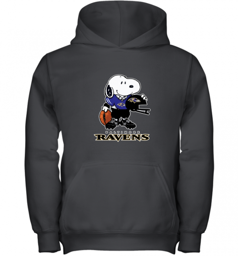 Snoopy A Strong And Proud Baltimore Ravens NFL Youth Hoodie